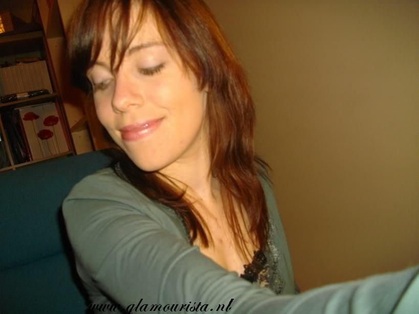bruin lang haar koperkleurige highlights