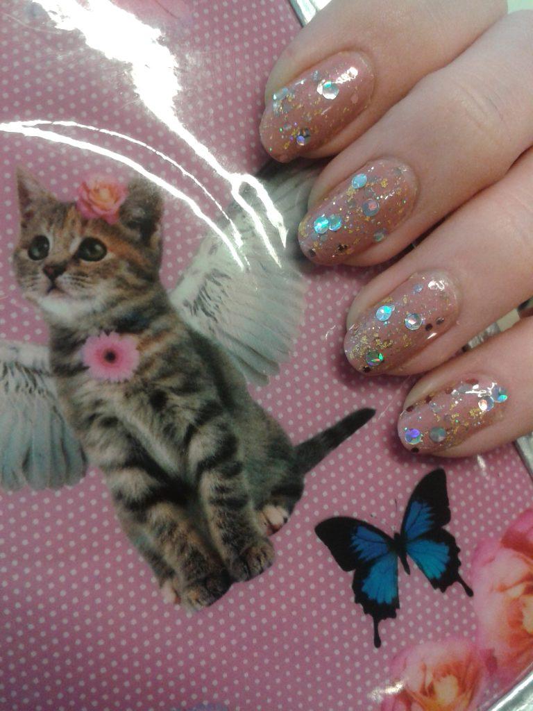 notd glitter nail art