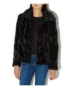 black-faux-fur
