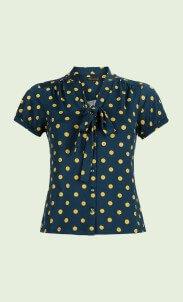 kinglouie-bow-blouse-partypolka