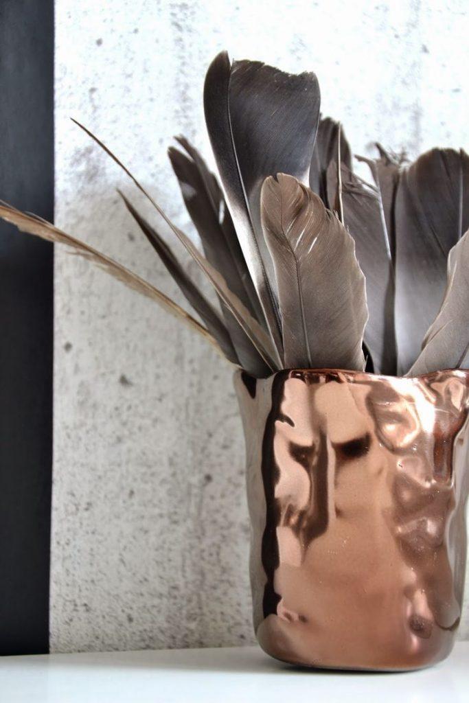 koperen vaas copper vase