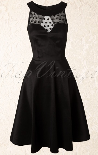 vixen-50s-dress-black-mesh-taffeta