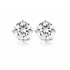Diamond Point Witgouden solitair groeibriljant oorstekers- 0.36 ct. 0.36 ct diamant Groeibriljant