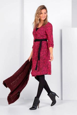 expresso-gebloemde-jurk-roze-zwart-roze-8720019049327