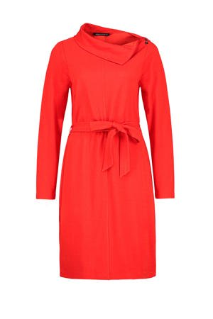 expresso-jurk-met-ceintuur-rood-rood-8720019048863
